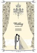 Wedding card with space for text