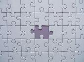 Peça do puzzle perdidas