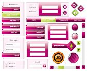 Modern website template frames - vector