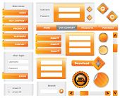 Modern website template elements - vector