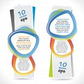 Modern vertical banners with speech bubbles
