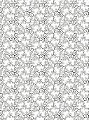 Seamless luxurious black pattern