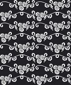 Seamless black and white luxurious pattern