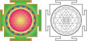 stock photo of sanskrit  - Vector Shri  Yantra  - JPG