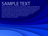 Abstract blue background with custom text