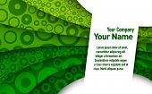 Abstract green 3d business card template