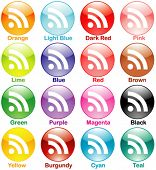 Vector Shiny Colorful RSS Set Part 2 of 3 - Round/Circular Shape