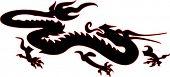 Cinese dragon tattoo design
