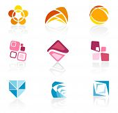 Abstract logo icons