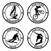 certified stamp of extrem sport