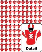American football uniforms (colors changeable)