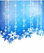 Winter background with high detailed snowflakes. New Year's and Christmas design