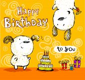 picture of dog birthday  - Birthday card - JPG