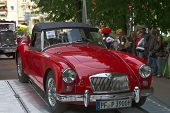 BADEN-BADEN, GERMANY  JULY 13:  MG (1960)  at The International Exhibition of old cars