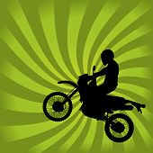 Jumping Dirt Bike Silhouette