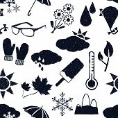 Seamless Weather Doodle Pattern