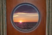 Sunrise Through Porthole