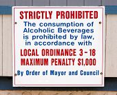 Alcohol Consumption Prohibited Sign