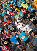 VALENCIA, SPAIN - NOVEMBER 27: Runners compete in the 31st Divina Pastora Valencia Marathon on Novem