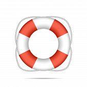 Lifebuoy Isolated On White Background