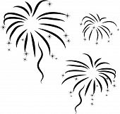 Vector Silhouette Of Abstract Firework