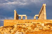 stock photo of poseidon  - Ruins of Poseidon temple - JPG