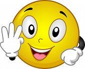 Ilustração com um Smiley fazendo a qualquer gesto