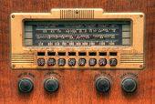 Oldtimer Antik Radio Zifferblatt