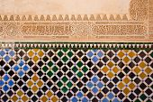 Mosaic at the Alhambra,  Granada, Spain