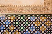 Mosaic at the Alhambra,  Granada, Spain