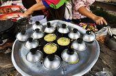 Dessert Mortar Market Pan Cooking Thailand