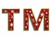 Snowflake Christmas Trademark Symbol