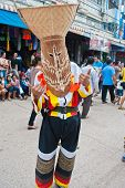 Loei Province,thailand-july 23, 2012.: Ghost Festival (phi Ta Khon) Is A Type Of Masked Procession C