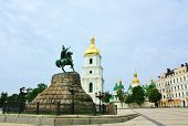 picture of hetman  - Monument to Ukrainian historical and political leader hetman B - JPG