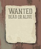 Wanted dead or alive. Raster version.