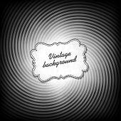 Retro Hintergrund in schwarz und weiß Farbumfang. Vektor, eps10