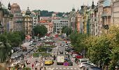 PRAGUE - JULY 16: Vaclavske Namesti - city square and center of business, cultural communities and c
