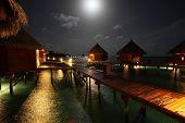 Maldives during moonshine