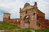 Ruins gate Carthusian monasteries in Belarus