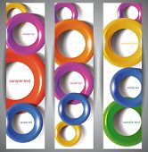 Abstract Web Banners. Plastic torus. Eps10 .Image contain transparency and various blending modes