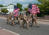 American Soldiers Marching The International Four Days Marches Nijmegen