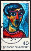 Postage stamp Germany 1974 Portrait in Blue by Alexej von Jawlen