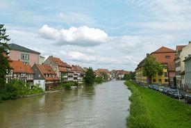 stock photo of regnitz  - Little Venice in Bamberg Germany - JPG