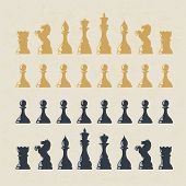 stock photo of reining  - Chess figures set - JPG