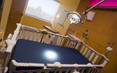 Children's Hospital Recovery Room Bed Examination Light Burning