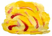 art yellow red spot, watercolor isolated for your design