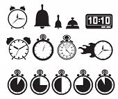 Icon set relojes