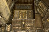 Ancient Japanese Scripts On Wood Panels
