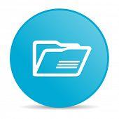 folder blue circle web glossy icon
