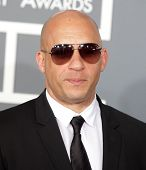 LOS ANGELES - FEB 10:  Vin Diesel arrives to the Grammy Awards 2013  on February 10, 2013 in Los Ang